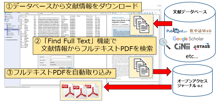 Find Full Text機能のチャート